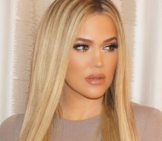 Khloe Kardashian makeup and hair