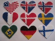 Around the world... Perle hjerte flag
