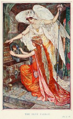 """Illustration from """"The Olive Fairy Book"""" by Andrew Lang and Illustrated by H. J. Ford"""