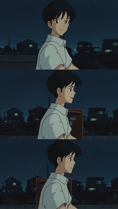 귀를 기울이면 배경화면 5 ; Whisper of The Heart : 네이버 블로그 Studio Ghibli Art, Studio Ghibli Movies, Old Anime, Anime Art, Anime Guys, Animes Wallpapers, Cute Wallpapers, Aesthetic Anime, Aesthetic Art