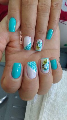 Nail Arts, Manicure And Pedicure, Spring Nails, Manicures, Hair Beauty, Health, Chrome Nails, Blue Nails, Art Nails