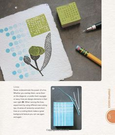 Image result for art business cards with lino prints