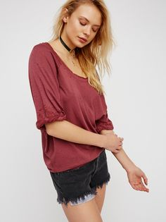 Moonlight Tee   American made tee with a relaxed look and feel. Features rolled sleeve cuffs and an easy, oversized shape.