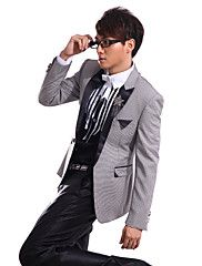 Gray Polyester Slim Fit Two-Piece Tuxedo – USD $ 71.99