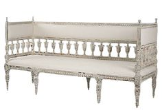 White - something charming about a lovely bench in an entry or bedroom.  Diana Bench on OneKingsLane.com