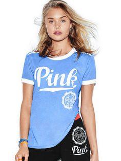 Ringer Tee - PINK - Victoria's Secret