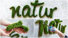 Duas receitas para fazer uma #decoração #Earthkeepers. Com elas você pode aplicar musgo à sua parede no formato que quiser. #DIY