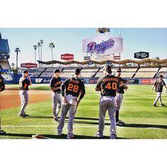 Taking on Dodger Stadium #SFGiants
