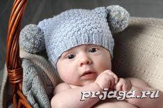 вязаные шапочки для новорожденных