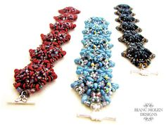 Adelaide, bead weave pattern for bracelet and ring with O-beads, super duo beads, seed beads and glass beads, €6.50