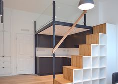 Bespoke Lofts - Loft beds for Adults - Scandinavian Loft ideas for small rooms for adults space saving ideas for small rooms for adults space saving Mezzanine Design, Mezzanine Loft, Mezzanine Bedroom, Loft Room, Loft Design, Bedroom Loft, Loft Bed Stairs, Loft Beds For Small Rooms, Small Living Rooms