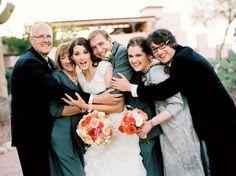 Casual family wedding photo