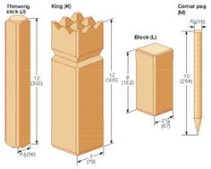 Kubb game pieces