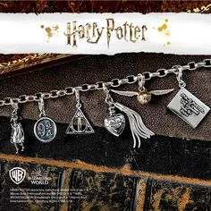 Shop online for Harry Potter Beads & Charms Bracelets at H. Harry Potter Bracelet, Harry Potter Charms, Harry Potter Films, Birthday Board, 50th Birthday, H Samuel, Pretty Necklaces, How To Make Beads, Murano Glass