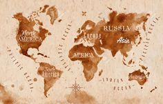 Mapa świata Mapa Retro Cliparty, Ilustracje Stockowe Oraz Ilustracje Wektorowe Royalty Free. Image 32357382.