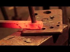 Blacksmithing - Making a round power hammer punch - YouTube