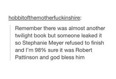 Thank you, Mr. Pattinson