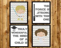 Star Wars Boys Room Art Star Wars Nursery Art Star Wars by ANewDae