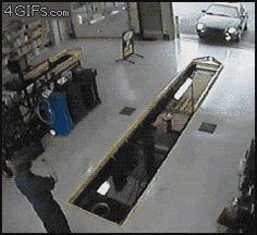 Oil-change-parking-pit-garage-fail