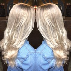 @hairbyliana icy blonde highlights silver blonde