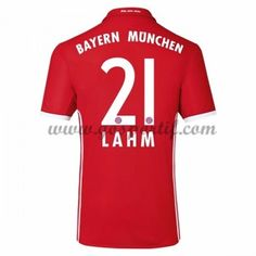 maillot de foot Bundesliga Bayern Munich 2016-17 Lahm 21 maillot domicile