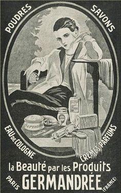 Advertisement Germandrée, c 1929, powders and soaps.