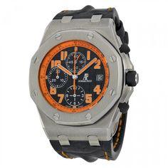Unworn Audemars Piguet Royal Oak Offshore Volcano Chronograph Black Leather Watch 26170ST.OO.D101CR.01 - Thumbnail 1