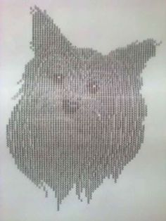 Es un dibujo de un perrito hecho con signos de mi maquina de escribir.