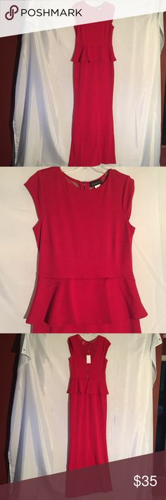 Venus long red dress size 6 New Venus long red dress size 6. . New with tags. 80% Cotton, Polyester 15%, 5% Spandex Venus Dresses