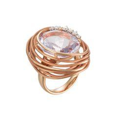 Annamaria Cammilli 18K Pink Gold, Diamond & Amethyst Nest Ring (=)
