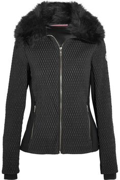 Fusalp - Montana Faux Fur-trimmed Quilted Ski Jacket - Black - FR42