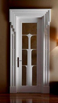 This is a beautiful door art deco in 2019 дизайн двери, двери, дизайн дома. Casa Art Deco, Art Deco Door, Art Deco Stil, Modern Art Deco, Art Deco House, Modern Design, Interiores Art Deco, Art Nouveau, Plafond Design