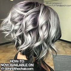 "You went crazy for this one! And we now have the HOW-TO, Formulas & Pricing! Search ""Deep Purple Root"" on behindthechair.com! Thank-you @fullmetaljaxon for sharing all the secrets to this amazinness! #behindthechair #silverhair #rootshade"