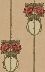Rose and Thorn wallpaper - Arts and Crafts, Aesthetic style, late 19th century