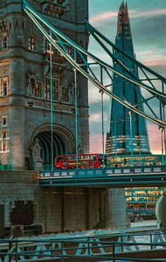 ღღ The Tower Bridge & The Shard, London. London Eye, London City, Highgate Cemetery, Tower Bridge London, London Places, London Photography, London Calling, Big Ben, United Kingdom