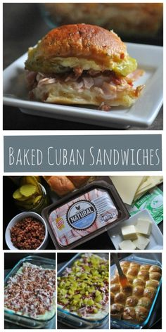 Baked Cuban Sandwiches are Hawaiian roll sliders filled with smoked ham, bacon, swiss cheese and pickles then brushed with a buttery mustard sauce. These mini baked Cuban sandwiches are perfect for parties, potlucks or family gatherings. Simple to prepare and delicious, these sandwiches are a favorite with both kids and adults and will certainly be a hit at your next event. http://diningwithalice.com/appetizers/baked-cuban-sandwiches/  #OscarMayerNatural #sponsored