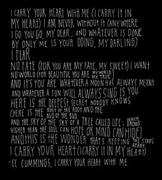 Ever since reading this at a friend's wedding, I have loved this poem so much.