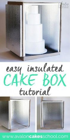 How to Make an Insulated Cake Delivery Box Tutorial This easy and inexpensive DIY is the perfect solution to keep my cakes COLD EVERY TIME during delivery! This has been a lifesaver for all my cake delivery box needs, I don't know what I'd do without it! Creative Cake Decorating, Cake Decorating Techniques, Cake Decorating Tutorials, Creative Cakes, Decorating Cakes, Decorating Supplies, Home Bakery Business, Cake Business, Baking Business