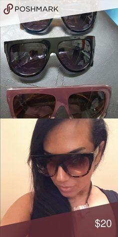 Oversize Sunglasses Women  Shades Oversize Sunglasses Women  Shades Men Retro Flat Top Cat eye Glasses Design Vintage Sunglass Female Oculos de sol feminino Accessories Sunglasses