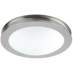 Kitchen 2 Light Flush Mount Brushed Nickel Ceiling Oval