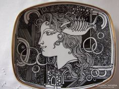 Szász Endre tálka Ceramic Plates, Nostalgia, Ceramics, Paper, Tableware, Pottery Plates, Hall Pottery, Pottery, Dinnerware