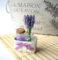 *~Shabby chic lavender basket