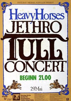 Jethro Tull - Heavy Horses 1978 - Poster Plakat Konzertposter