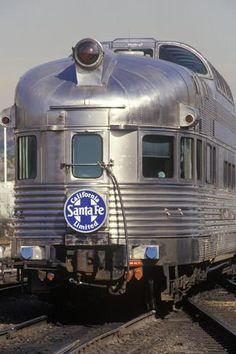 Old Pullman Car from the Santa Fe Railroad Line, Los Angeles, California