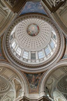 """Panthéon (Paris) - La Coupole et le pendentif """"La Justice"""""""