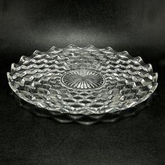 Fostoria American Glass Cabaret Platter Vtg