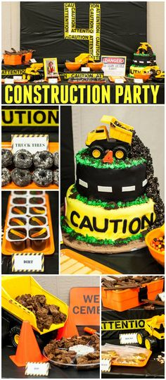So many fun details at this construction party! See more party ideas at CatchMyParty.com!