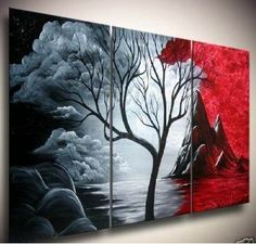 Nature, Price: $389.00, Shipping: Free Shipping, Size of Parts: 40cm x 60cm x 3 panels, Total Size (W x H): 120cm x 60cm, Delivery: 14 - 21 Days, Framing: Framed & Ready to Hang! Framed & Ready to Hang with Wire attached at back of painting! http://www.directartaustralia.com.au/
