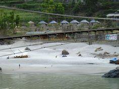 A river-side rafting camp at Shivpuri, Rishikesh