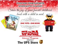 What's you favorite Scholastic Classic? #ToysForTots & #UPS asks fans to vote, and help donate books to young readers this #seasonofgiving! #FWB40 #HolidayFundraising